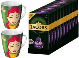 Ebay: 100er-Pack Nespresso-Kapseln von Jacobs mit 2 Tassen für 19,90 Euro