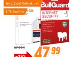 Office 365: Jahreslizenz inklusive Bullguard Internet Security für 47,99 Euro
