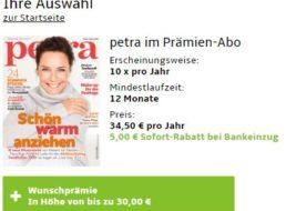 Petra: Jahresabo für 29,50 Euro mit Gutschein über 30 Euro