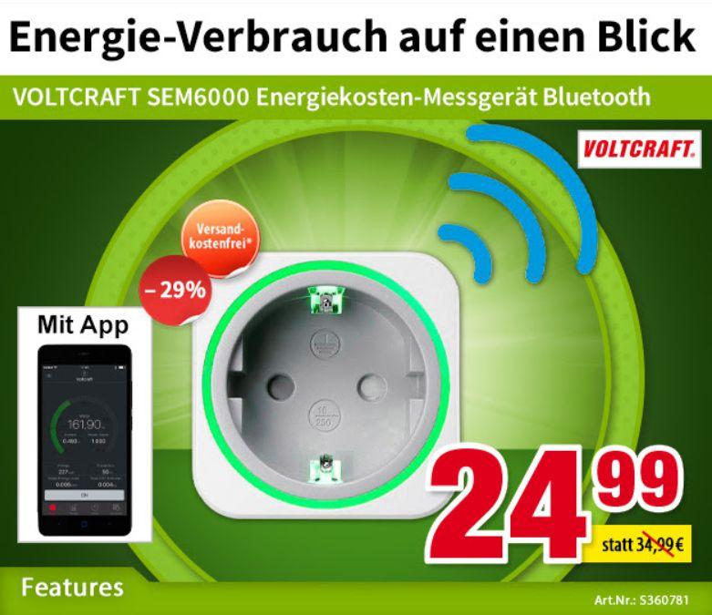 Völkner: Smartes Energiekostenmessgerät mit Bluetooth für 24,99 Euro