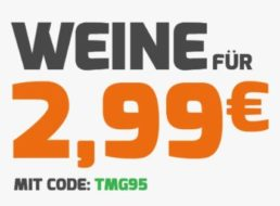 Weinvorteil: Aktionsweine dank Gutschein für je 2,99 Euro