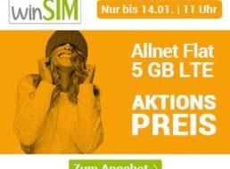 Winsim: 5 GByte LTE (50 MBit/s) mit Allnet-Flat für 7,99 Euro