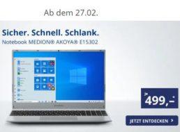 Aldi-Notebook: Medion Akoya E15302 für 499 Euro ab 27. Februar