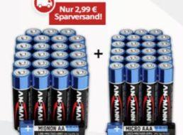 Völkner: Ansmann Batterie-Set mit 48 Batterien für 10,97 Euro frei Haus