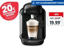 """Lidl: Kapselmaschine """"Bosch Vivy 2 TAS1402"""" für 19,90 Euro mit Gutschein über 20 Euro"""