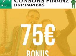 Knaller: 75 Euro geschenkt zur beitragsfreien Mastercard von Consors