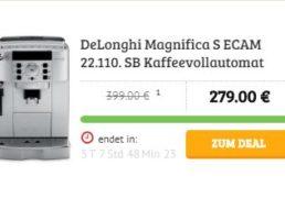 Dealclub: DeLonghi Magnifica S ECAM 22.110. SB für 279 Euro frei Haus