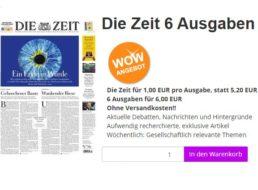 """Wieder da: 6 Ausgaben """"Die Zeit"""" mit automatischem Ende für 6 Euro"""