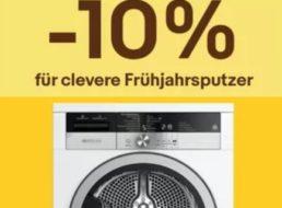 Ebay: 10 Prozent Rabatt auf Haushaltsartikel für zwei Wochen
