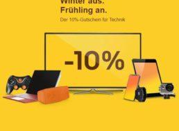 Ebay: 10 Prozent Rabatt auf Technik-Produkte für zwei Wochen