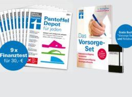 """Wieder da: 9 Ausgaben """"Finanztest"""" mit Vorsorgeplaner für 30 Euro"""