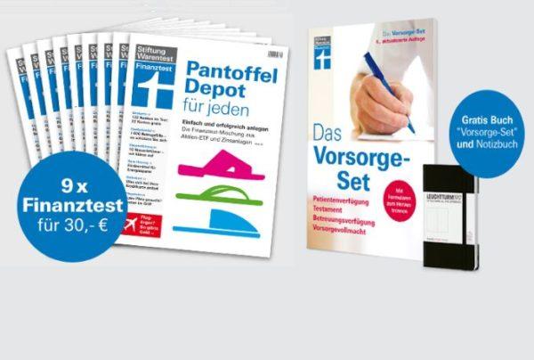 Finanztest: Neun Ausgaben inklusive Vorsorgeplaner für 30 statt 69,80 Euro