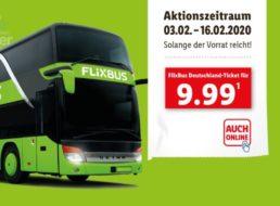 Lidl: Flixbus-Tickets für deutschlandweite Direktfahrten zum Preis von 9,99 Euro