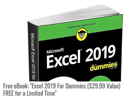 """Gratis: eBook """"Excel 2019 For Dummies"""" zum Nulltarif zu haben"""