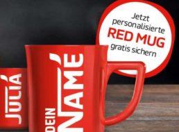 Gratis: Rote Kaffeetasse von Nescafé mit eigenem Namen