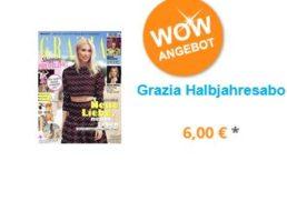 Grazia: Halbjahresabo mit automatischem Ende für 6 Euro