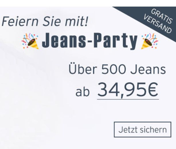Jeans Direct: 500 Jeans ab 34,95 Euro frei Haus