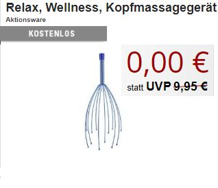 Druckerzubehoer.de: Massageöl und Kopfmassagegerät für 0 Euro