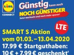 Lidl Connect: Smart S für 10 Euro mit 17,99 Euro Guthaben