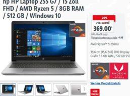 Lidl-Notebook: HP 255 G7 mit 512 GByte SSD für 369 Euro