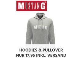 Jeansdirect: Mustang-Pullis und -Hoodies für 17,95 Euro frei Haus
