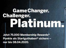 Knaller: American Express Platinum jetzt mit 75.000 Membership-Rewards
