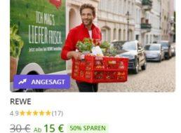Rewe-Lieferservice: Rabatt von 20 Prozent für Neukunden via Groupon