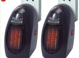 Dealclub: Doppelpack Mini-Heizlüfter mit 400 Watt für elf Euro frei Haus
