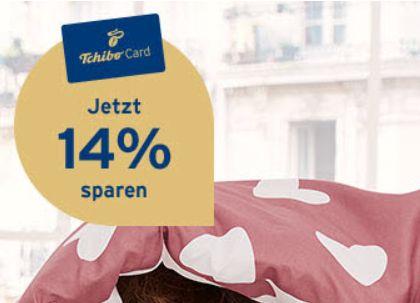 Tchibocard: 14 Prozent Rabatt zum Valentinstag
