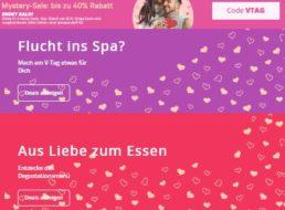 Groupon: Bis zu 40 Prozent Rabatt auf Valentinstags-Schnäppchen