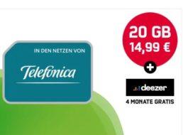 Knaller: 20 GByte LTE mit 225 Mbit und Allnet-Flat für 14,99 Euro
