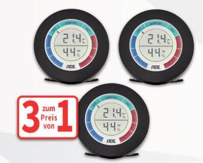 Voelkner: Dreierset Thermometer / Hygrometer für 15,99 Euro plus Versand