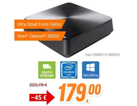 Notebooksbilliger: Asus-Mini-PC mit Windows 10 für 179 Euro frei Haus