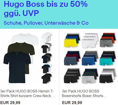 Hugo Boss: Sale bei Ebay mit Artikeln ab 16,99 Euro