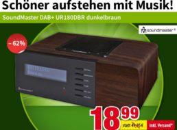 """Völkner: DAB+-Radio """"SoundMaster UR180DBR"""" für 18,99 Euro frei Haus"""