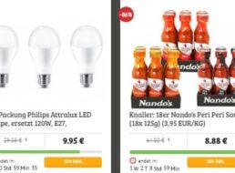 Dealclub: Helle LED-Birnen von Philips und 18er-Pack scharfe Saucen