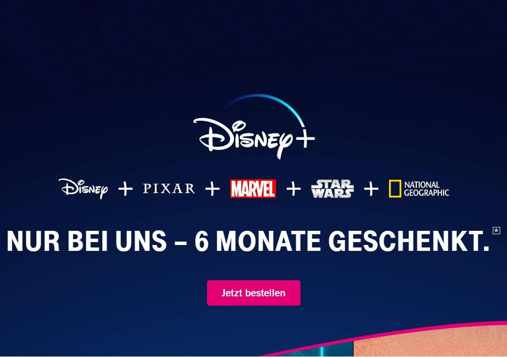 Knaller: Disney+ für Magenta-Kunden sechs Monate gratis
