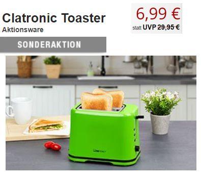 Druckerzubehoer.de: Clatronic-Toaster für 6,99 Euro plus Versand