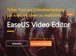 """EaseUS: """"Video Editor"""" mit 40 Prozent Rabatt für 33,52 Euro"""