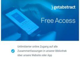 Gratis: Unbegrenzter Zugang zu Getabstract bis zum 18. Mai