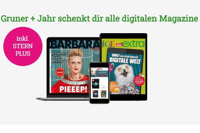 """Gratis: """"Stern"""", """"Geolino"""" und andere Magazine bis Ende April digital gratis"""