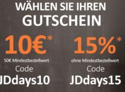 Jeans Direct: Rabatt von 10 Euro oder 15 Prozent auf Markenjeans