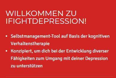 """Gratis: Online-Programm """"iFightDepression"""" für kurze Zeit zum Nulltarif"""