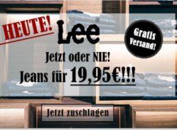 Jeansdirect: Lee-Jeans für 19,95 Euro frei Haus