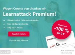 Gratis: Duden Lernattack im Wert von 34 Euro für zwei Monate komplett gratis