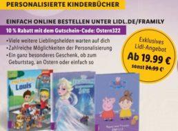 Lidl: Personalisierte Kinderbücher mit zehn Prozent Extra-Rabatt