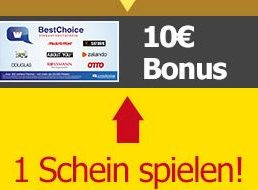 Lotto24: Bonus von 10 Euro bei Spieleinsatz ab 1,60 Euro