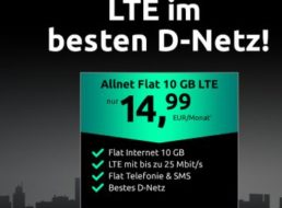 Telekom-Netz: LTE-Tarif mit 10 GByte und Allnet-Flat für 14,99 Euro