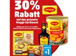 Penny: Maggi-Rabatt (auch auf Ravioli) von 30 Prozent bis Samstag