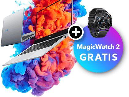 Notebooksbilliger: Honor MagicBook 14 mit MagicWatch für 599 Euro